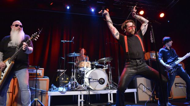 Singer Jesse Hughes of Eagles of Death Metal says the band is committed to finishing the Paris show that was stopped ...