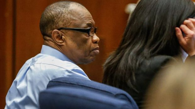 Lonnie Franklin Jr appears in Los Angeles Superior Court for opening statements in his trial.