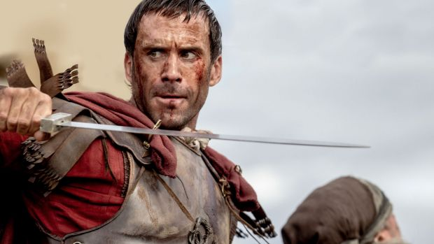 Oddly effective: Joseph Fiennes remains stoic throughout the old-school biblical epic <i>Risen</i>.