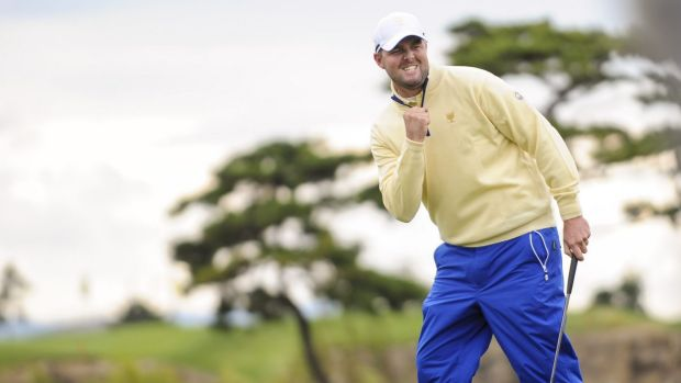 Marc Leishman after defeating Jordan Spieth of Team USA in the final round of The Presidents Cup last year.