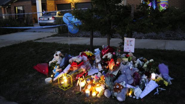 Candles were lit as a tribute for Bradyn Dillon as the community gathered in Jacka on Wednesday.