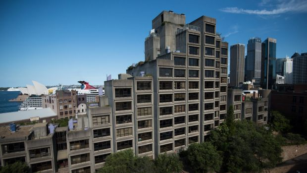 Located on Cumberland Street in The Rocks, the Sirius building's brutalist concrete box architecture has divided public ...
