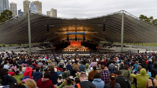 The free concert featured music by John Adams and George Gershwin and Dvorak's Symphony No 7 in D minor.