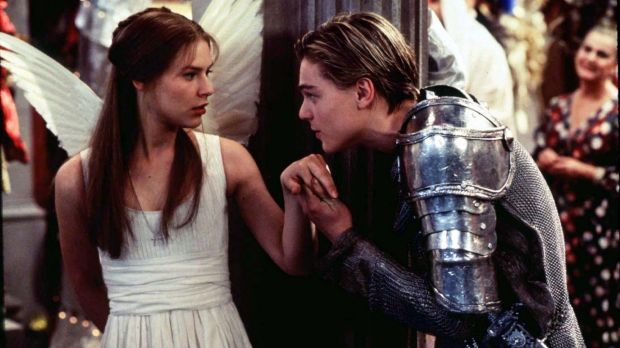 Claire Danes and Leonardo DiCaprio in 1996's <i>Romeo + Juliet</i>.