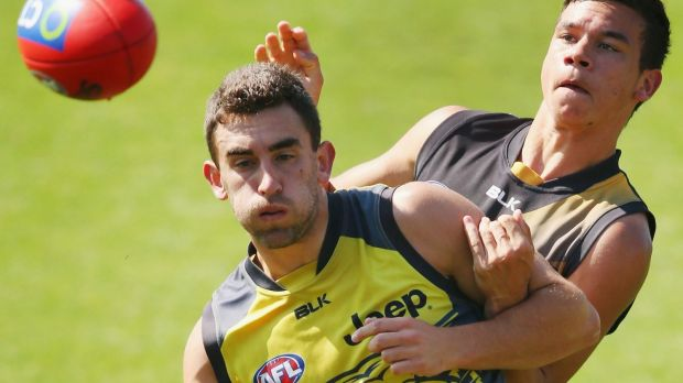 Adam Marcon set for the experience of a lifetime, tackled here by Daniel Rioli.