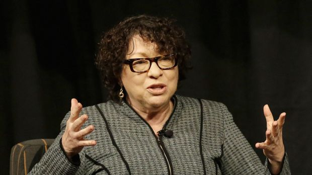Supreme Court Justice Sonia Sotomayor speaks at San Jose State University in San Jose, California in 2014.