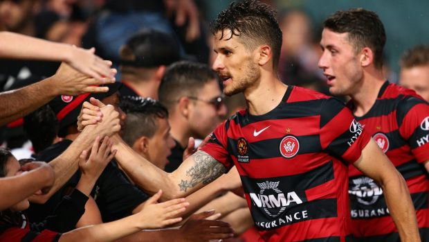 For the fans: Wanderers midfielder Dario Vidosic says it's time to give the club's fans a win over their cross-town rivals.