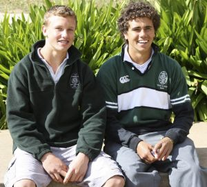 Jack Wighton during his school days with fellow Canobolas High School player Sandon Gibbs-O'Neill.