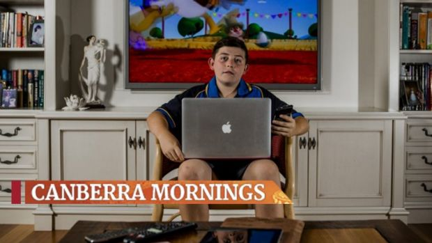 Like most Canberrans, Hamish Insley, 12, has a variety of devices he uses to access the internet.
