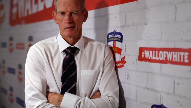 Mixing business with business: England and Broncos coach Wayne Bennett.