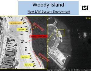 Satellite images of Woody Island, the largest of the Paracel Islands in the South China Sea, showing a surface-to-air ...