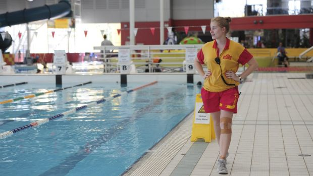 Life guard at CISAC, Claire Pullan of Belconnen.