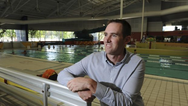 Sean Hodges, Group Operations Manager at CISAC, inside the swimming pool area.