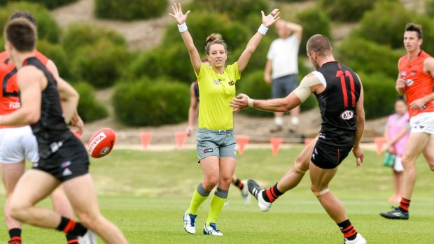 "Play on: Eleni Glouftsis is ready to ""just get on with it"" in the AFL."