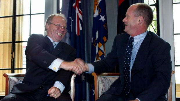 Peter Beattie had a famously close relationship with then-Brisbane lord mayor Campbell Newman.
