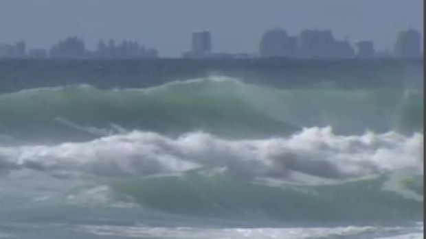 Main Beach on the Gold Coast was closed on Friday morning.