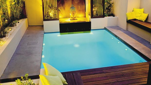 The exotic platinum plunge from Leisure Pools.