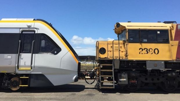The first of Queensland's 2016 NGR trains arrive from India.