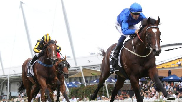 Class performer: Astern takes out the Silver Slipper Stakes at Rosehill.