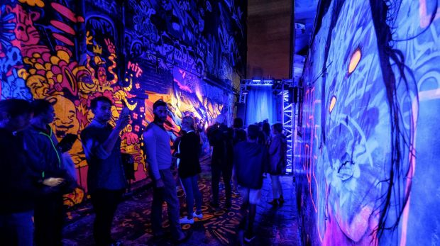 Neon Alley was a highlight for many at White Night Melbourne 2016.