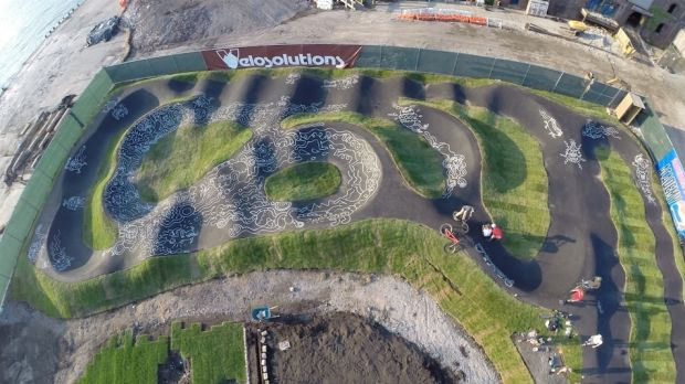 A BMX track in New York.