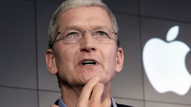 """Apple chief executive Tim Cook says creating a """"back door"""" to a terrorist's iPhone could compromise the security of ..."""