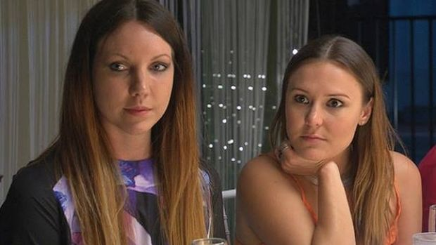 Chloe and Kelly during their time on My Kitchen Rules in 2014.