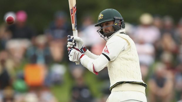 Caught behind: Nathan Lyon failed to fire at the crease for NSW.