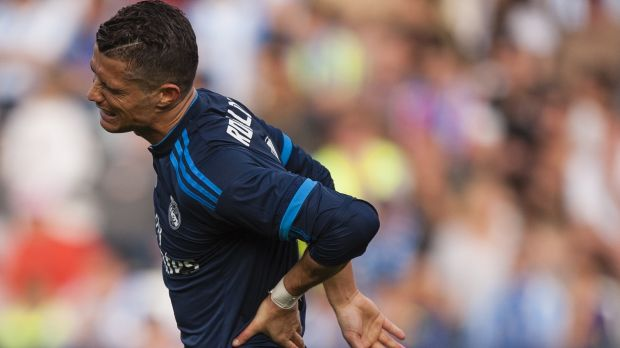 Cristiano Ronaldo missed a penalty in his team's draw with Malaga.