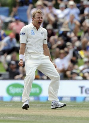 Fired up: New Zealand paceman Neil Wagner.