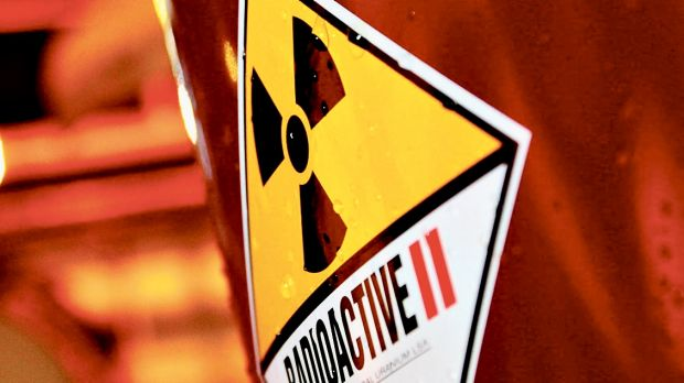 A passer-by apparently found the radioactive material and reported it to authorities.