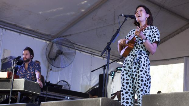 Heartfelt high: Missy Higgins performs at the 2016 Riverboats Festival.