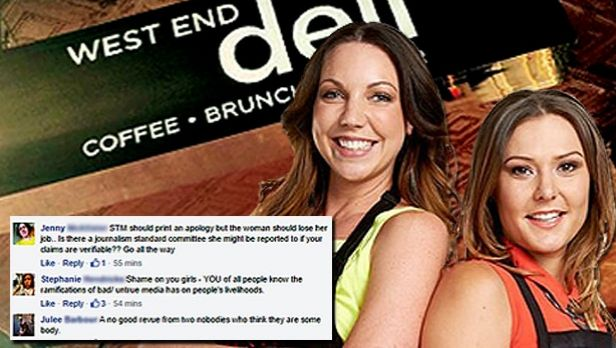 Chloe James (left) has cancelled a radio gig this morning after the public backlash on Facebook.