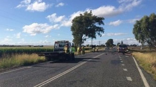 A Brisbane man died when his small sedan and a semi-trailer collided near Warwick in the raly hours of Monday.