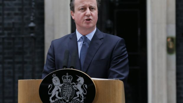 British Prime Minister David Cameron announcing a historic referendum on whether to stay in the European Union will be ...