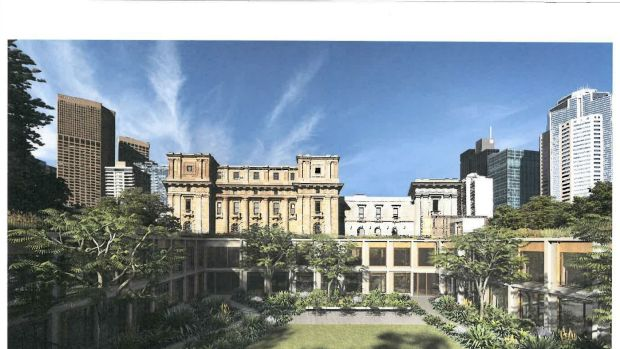 Designs by Peter Elliott Architecture for the new $40 million office building at the rear of Victoria's Parliament House.