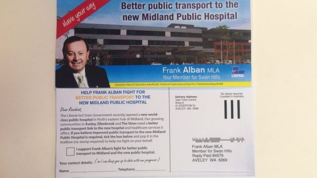 Swan Hills MLA Frank Alban is polling constituents for support in improving services to Midland, saying Joondalup is a ...