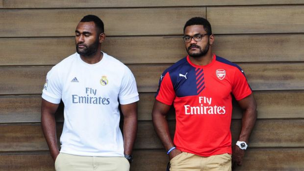 Tevita Kuridrani and Henry Speight turned their attention to raising money for Fiji this week after Tropical Cyclone Winston.
