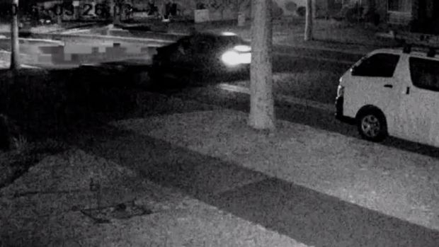 The car involved in a iron bar rampage through South Morang and Epping.