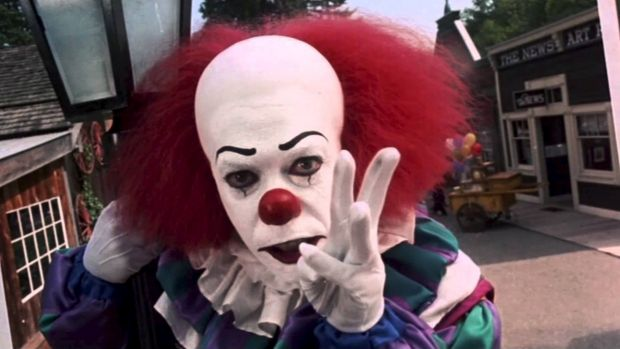Tim Curry appeared in the TV adaptation of <i>It</i> in 1990 as Pennywise the Dancing Clown.