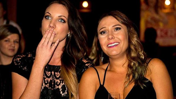 Chloe and Kelly during their time on reality TV series My Kitchen Rules.