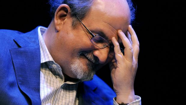 "Writer Salman Rushdie discusses his autobiography titled, ""Joseph Anton: A Memoir"" in Washington in 2012."