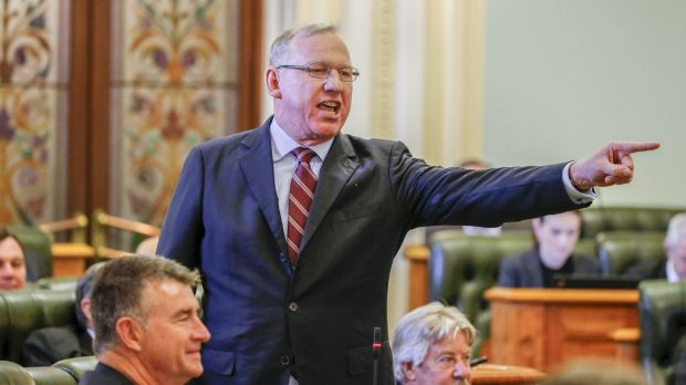 "Jeff Seeney attacked Labor MPs, calling them ""chicken-hearted head-kickers""."