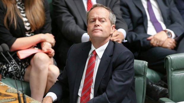 Opposition leader Bill Shorten during question time on Tuesday.