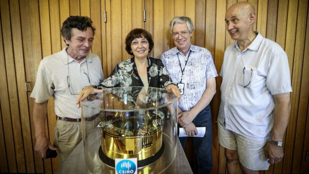 Bad optics: leading CSIRO scientists (from left) Anatoli Chtanov and his wife Svetlana Dligatch (both made redundant), ...