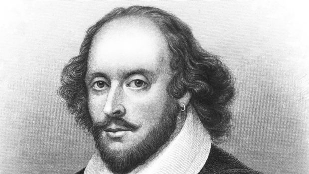 A sketch of William Shakespeare.