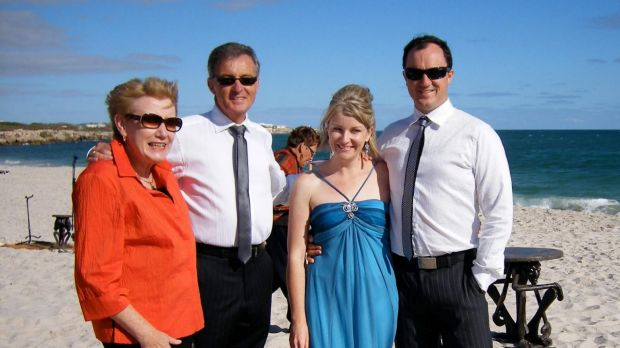 Jeremy Buckingham (far right) with his mother-in-law Sheila (far left), who died from cancer.