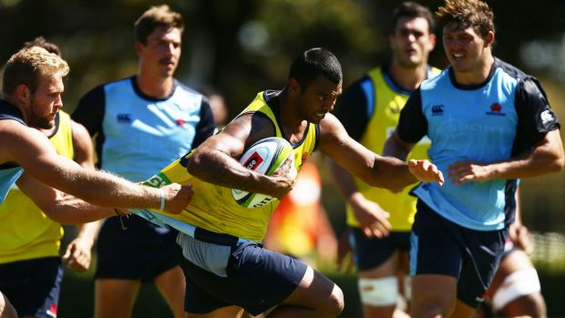 Playmaker: Kurtley Beale trains at five-eighth with the Waratahs on Tuesday.