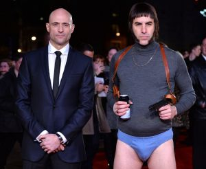 Double act: <i>Grimsby</i> stars Mark Strong and Cohen.