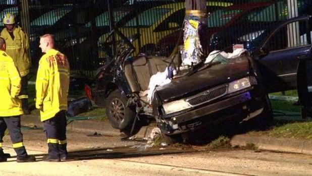 "The Toyota Aurion ""disintegrated"" on impact when it crashed on Canterbury Road in Belmore, police said."